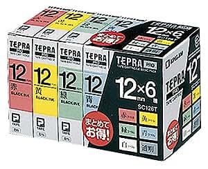 キングジム テープカートリッジ テプラPRO ベーシックパック 12mm SC126T