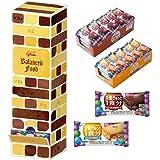 グリコ バランス栄養食セット 50個 タワー型BOX入り バランスオンminiケ―キ チョコブラウニー & チーズケーキ 栄養補助食品 ケーキバー