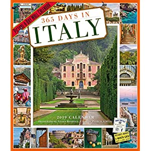 365 Days in Italy 2019 Calendar: Picture-a-day