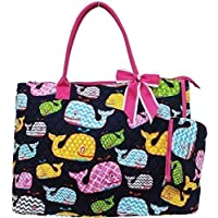 Quilted Whale Print Large Tote Bag (Fuchsia) by NGIL [並行輸入品]