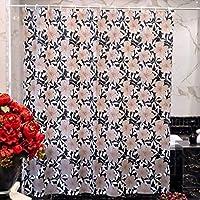 素敵なシャワーカーテン ヨーロッパの茶色のマットの厚い不透明なエヴァの浴室の自由な穴があいたシャワーカーテンの防水およびかびのかかった浴室の付属品 (サイズ : 200cm*200cm)
