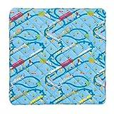 西川 リビング プレイマット 140×140cm プラレール 01 ブルー