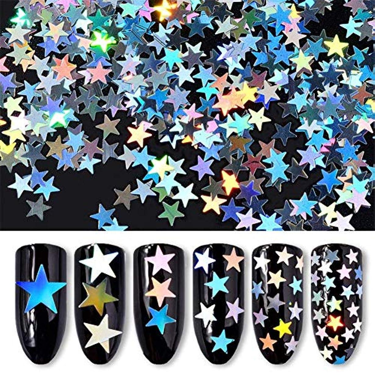 ランチペンフレンド容赦ない6ボックス/セット 星 スター ホログラム キラキラ 反射カメレオン ネイルパーツネイルアートネイルデコ