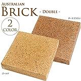 オーストラリア産 レンガ ダブル W18.4×L18.4×H3.8cm 5個セット ゴールド