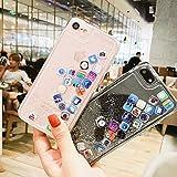 0655fe5a5f 位, iPhone 8 ケース キラキラ 創意 流れる ios icon APP Apple 図面 多彩な 液体 流動の砂 iPhone 7  携帯バンパー カバー (iPhone 7 / 8, Glitter Sand)