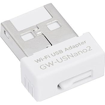 PLANEX 無線LAN子機 (USBアダプター型) 11n/g/b 150Mbps MacOS X10.10対応 GW-USNANO2A (FFP)
