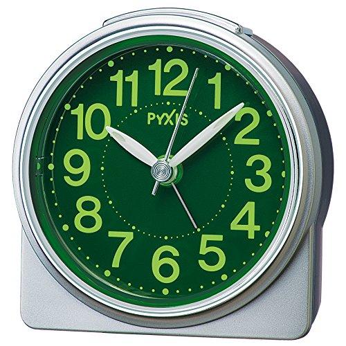 SEIKO CLOCK (セイコークロック) 目覚まし時計 アナログ 集光樹脂文字板 PYXIS (ピクシス) 銀色メタリック NR439S