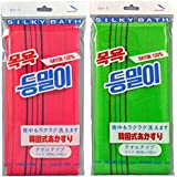 キヌガワカンパニー ボディタオル グリーン/レッド 韓国発 韓国式あかすり タオル 2色組 KA-3 2色入