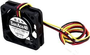 オウルテック 安心の2年間交換保証 PCケース用山洋電気製静音ファン 4cm 10mm厚 5000rpm SF4-S5