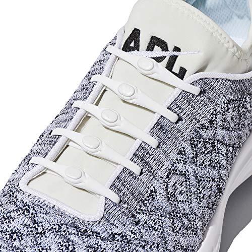 HICKIES 2.0 - ヒッキーズ2.0 フリーサイズ 結ばない伸縮素材の靴ひも - ホワイト(白) (14 ヒッキーズ靴ひも、あらゆる靴のサイズに対応)