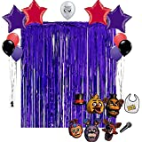 Five Nights at Freddys Birthday Party Photo Booth Props Balloons Decoration Kit