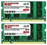 Komputerbay 日本進出記念 メモリ 2枚組 DDR2 800MHz PC2-6400 4GBX2 DUAL 200pin SO-DIMM ノート パソコン用 増設メモリ 8GB デュアル