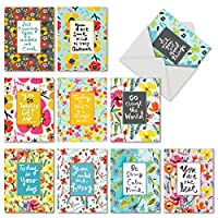 Words for Friends all-occasion Jokeカード 10 Assorted Thank You Cards (M6482TYG)
