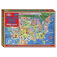T.S. Shure Map of the USA Jigsaw Puzzle (200-Piece) [並行輸入品]