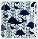 スカンジナビア 皿 正方形 ミニ マリン クジラ 12.5cmx12.5cm ms-sq-wh
