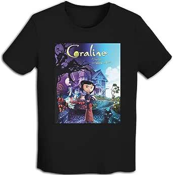 プリント 半袖シャツ メンズ T-Shirt Coraline コララインとボタンの魔女 Tシャツ White