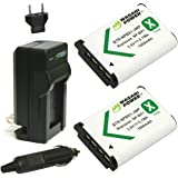 Wasabi Power Battery (2-Pack) and Charger for Sony NP-BX1, NP-BX1/M8