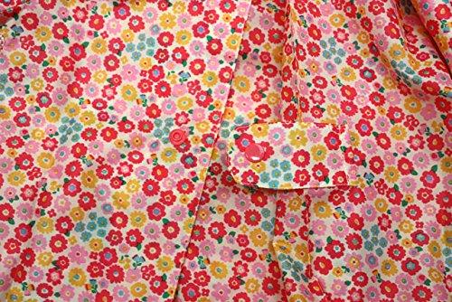 【子供服】 Kids Foret (キッズフォーレ) フリルリボン付き小花柄レインコート S~L B81880