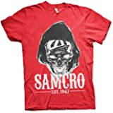 Sons of Anarchy Officially Licensed Samcro Dark Reaper T-Shirt (Red)