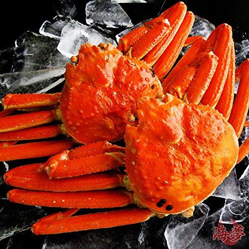 【ギフト対応】 最高級 天然ズワイガニ姿 大サイズ 蟹味噌たっぷりの厳選された本ずわいがに 贈答用にも最適 【約600g×2尾】 -