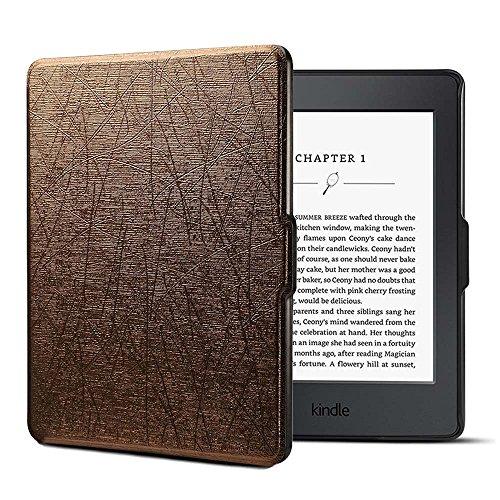 Kindle Paperwhite ケース 超薄 軽量 保護 フリップ スマートカバー [自動ウェイク/スリープ] ために Kindle Paperwhite (Not Fit 2018 Release 10th Gen) ビンテージブロンズ