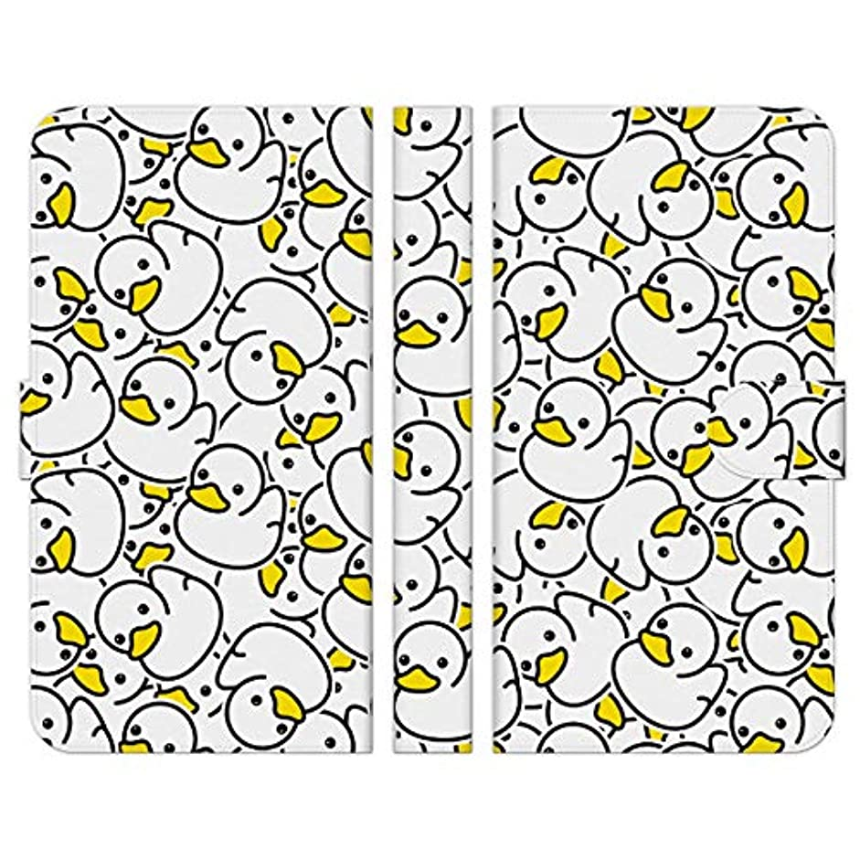 コンドーム検出する重量Ruuu ZenFone Go ZB551KL 手帳型 スマートフォン スマホ ケース カバー アヒル柄 白 ホワイト おもしろ かわいい どうぶつ あひる 鳥 イラスト パターン 柄 模様 ユニーク