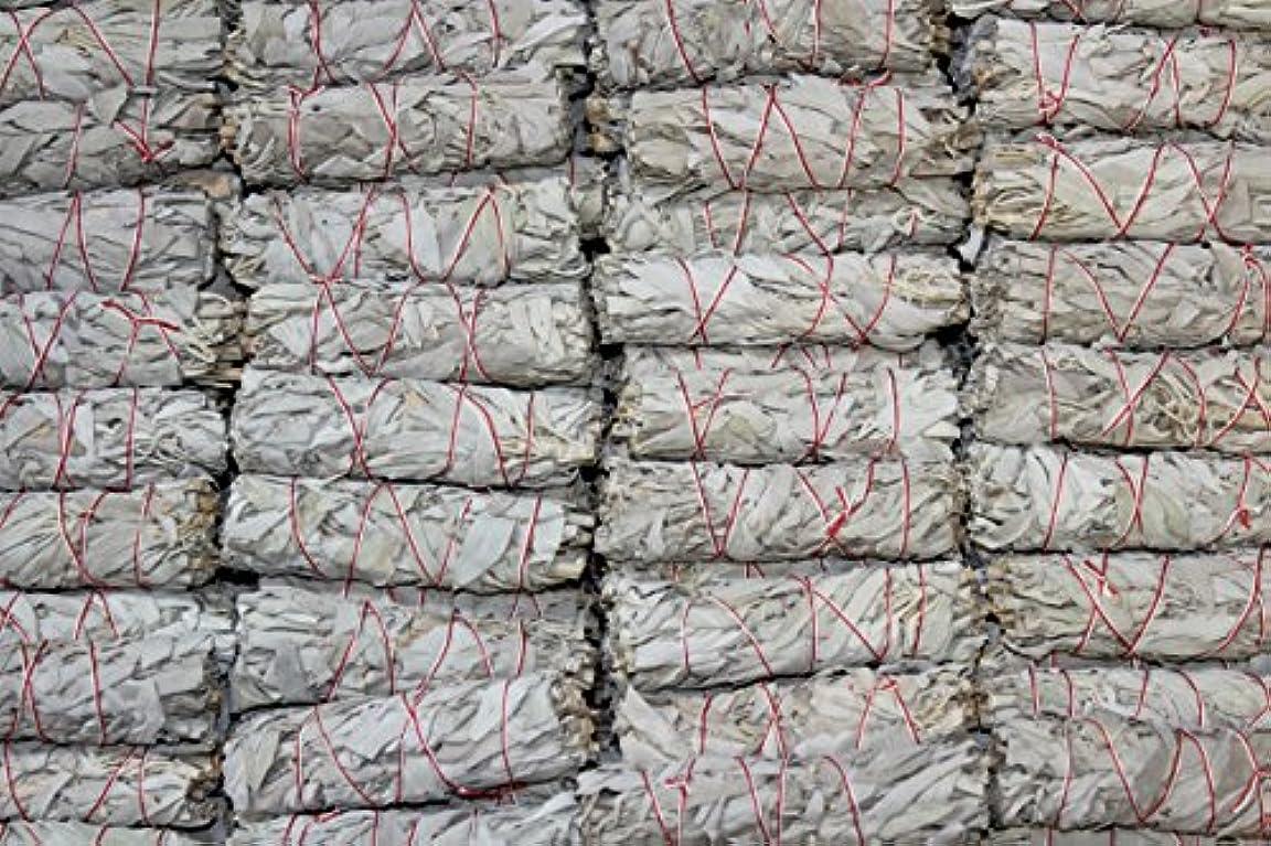 成熟スクリュー散るMiniホワイトセージお香Wands – のセットで販売4束