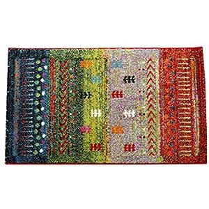 イケヒコ 玄関マット マット トルコ製 ウィルトン織り ギャベ柄 『マリア』 グリーン 約50×80cm ♯2037739