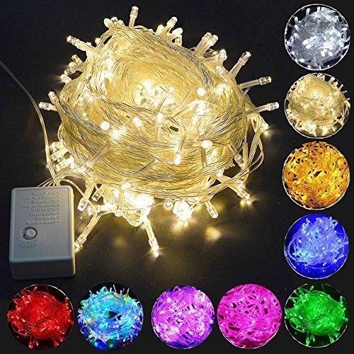 Wentop 10M 100 LED 室内装飾 ライト ツリ...