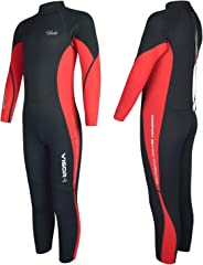 Hevto Wetsuits Kids and Youth Vigor 3mm Neoprene Full Suits Long Sleeve Surfing Swimming Diving Swimsuits Keep Warm Back Zip