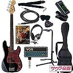 SELDER セルダー ベース プレシジョンベースタイプ PB-30/BK/T VOX amPlug2【アンプラグ2 AP-BS(BASS)】サクラ楽器オリジナルセット