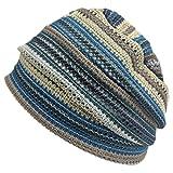 (カジュアルボックス)CasualBox MESH カラー デザインワッチ フリーサイズ メッシュ 夏 サマーニット帽 帽子 charm チャーム (ブルー)