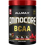 AMINOCORE BCAA – 8G BCAAs – 100% Pure Branch Chained Amino Acids – Gluten Free - Fruit Punch - 315 Gram