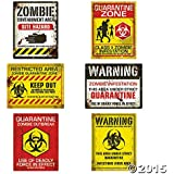 Zombie Halloween Party Posters - Assorted Styles - 6 pieces