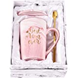 Best Mom Ever Coffee Mug Mom Mother Gifts Marble Ceramic Coffee Mug Novelty Mom Women Christmas Thanksgiving Gifts for Mom Mo