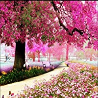 lhdlilyロマンチックチェリーツリーテレビ背景壁紙レストランホテルベッドルームバスルーム壁画 LHDLily-561616981-14642