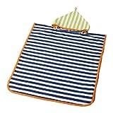 IKEA SLAPPA フード付バスタオル ダークブルー、グリーン 60252014