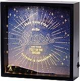 LED で お部屋を 装飾!  ディスプレー ボックス インテリア アート デザイン ボード 20×13cm スター