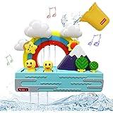 SEDOLA Bath Toys,Educational Bathtub Water Toy with Music and Light,Cute Duck and Rainbow Bathroom Toy,Shower Bath Baby Toy f