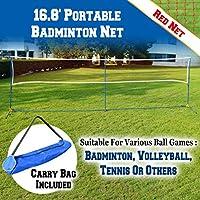 BenefitUSAポータブル3- in - 1、テニス、バレーボールバドミントンNetセットトレーニングビーチwith Carryingバッグ