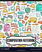 """Notebook: Floral Flowers College Ruled Notebook Lined School Journal 110 Pages 7.44"""" x 9.69"""" for Children Kids Girls Teens Women"""