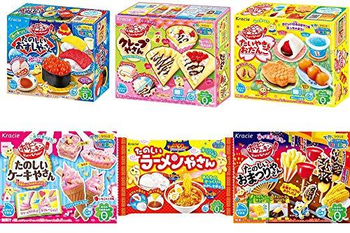 クラシエフーズ ポッピンクッキン 【人気の6種セット】お寿司・お祭り・ケーキ・クレープ・たいやき・ラーメン