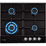 Gasland Chef Gas Cooktop 4 Burners Built-in Gas Hob Black Tempered Glass Finish Gas Cooker Stove NG LPG 60CM