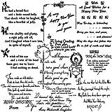クリスマスの詩 ~ クリアスタンプ (9x18cm) // Christmas Poems ~ Clear stamps pack (9x18cm) FLONZ