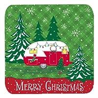 Caroline's Treasures VHA3018FC Christmas Vintage Glamping Trailer Foam Coaster (Set of 4), Multicolor, 8.9cm