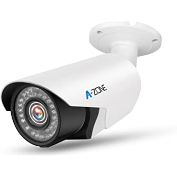 A-ZONE 防犯カメラ AHD 200万画素 f=2.8~12mmレンズ調整可能 赤外線LED42個 夜間撮影 防水 増設用 単品