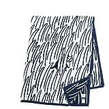 KLIPPAN クリッパン mina perhonen 2547 ミナ ペルホネン 2cats キャット 猫 140×180 オーガニックコットン シュニールコットン リバーシブル ダブルフェイス 大判 シングルブランケット バスタオル 毛布 ひざ掛け ギフト カラー1色 navyblue [並行輸入品]