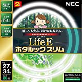 NEC 丸形スリム蛍光灯(FHC) LifeEホタルックスリム 86W 27形+34形パック品 昼白色 FHC86EN-LE-SHG