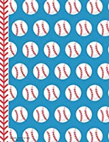Baseball - Red White Blue Notebook - Wide Ruled: 130 Pages 8.5 x 11 Lined Writing Paper Pages School Teacher Student Game Player Coach