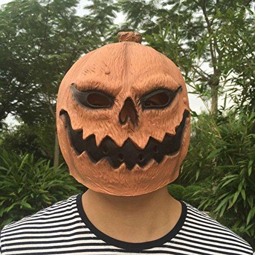 SUNKY マスク お面 かぶりもの コスプレ ハロウィン カボチャ クリスマス 天然ゴムラテックス製 仮面 リアル かぶりもの 学院祭 パーティー 道具 パンプキン なりきりマスク 南瓜